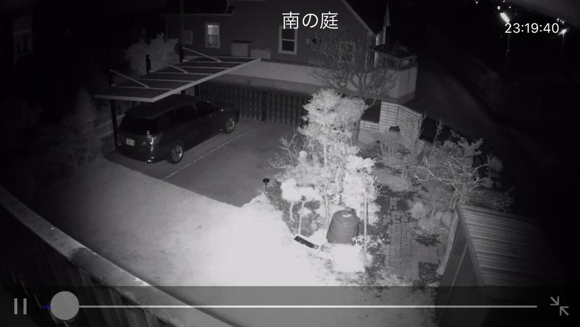 赤外線夜間映像